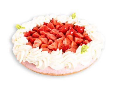 Aardbeienvlaai van topkwaliteit koop je bij Bakkerij Maxima op Urk.