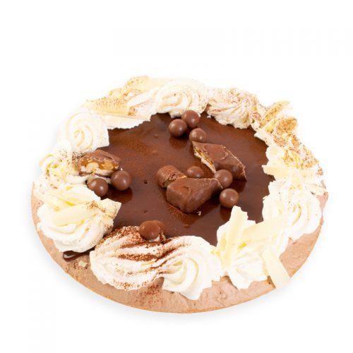 Heerlijke chocoladevlaai van Bakkerij Maxima.